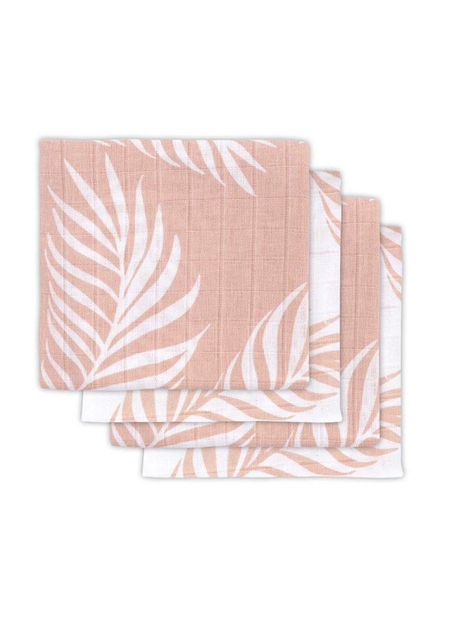 4 Hydrofiele Multidoeken 70-70cm Leaf Pale Pink