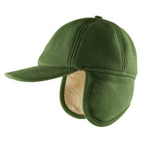 CarlijnQ Caps - green (with ears + fake fur)