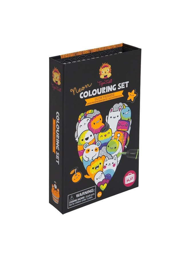 Neon Colouring Sets/Glow Friends