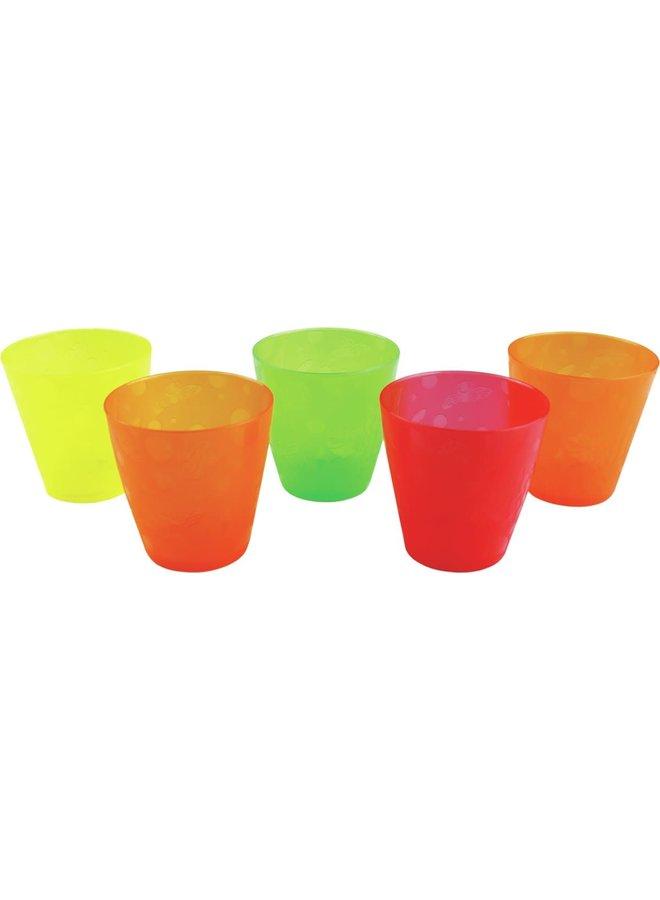 5 Multi-Coloured Cups