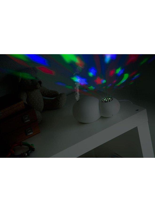 Luchtbevochtiger en projector