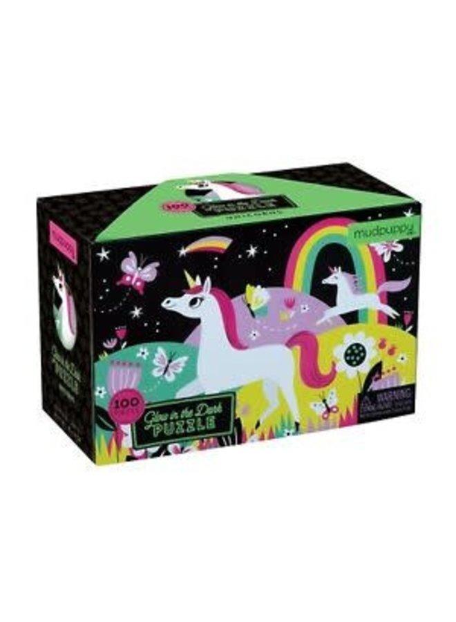 """Glow in the dark Puzzel """"Unicorns"""""""