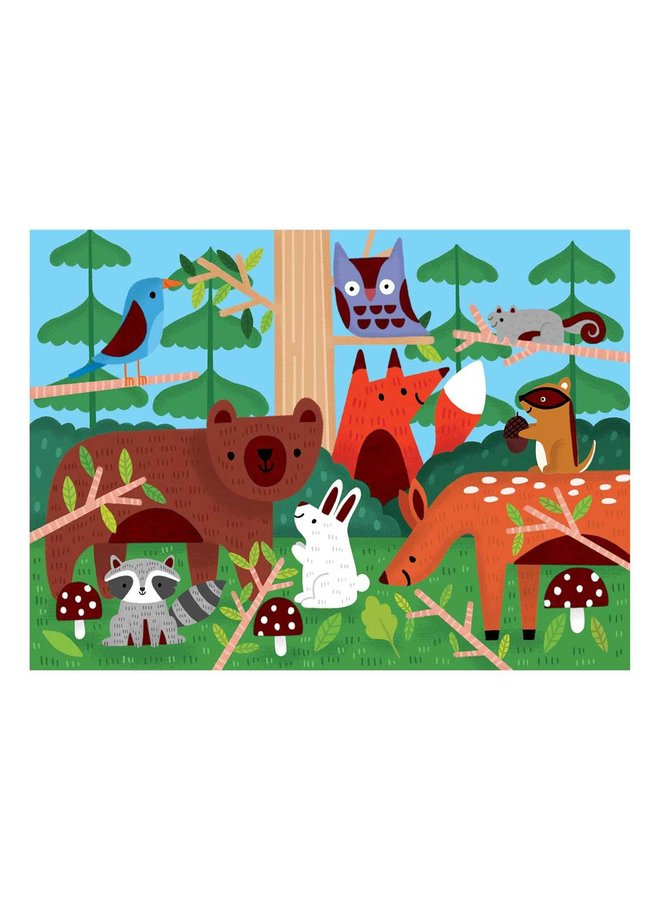 """Voelpuzzel """"In the forest"""""""
