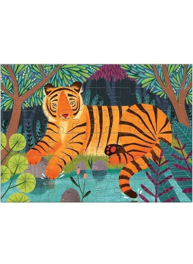"""Mini Puzzel 48 stukjes """"Bengal Tiger"""""""