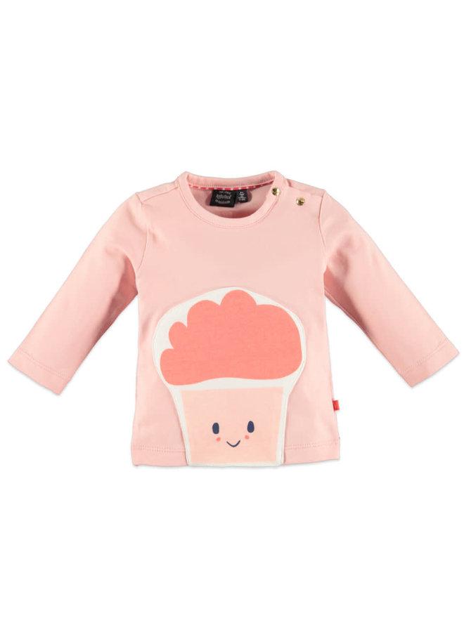 Cupcake print & knuffel t-shirt