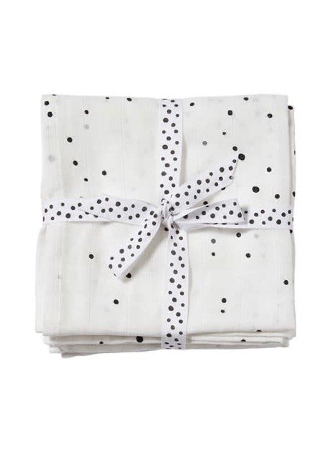 Burp cloth, 2-pack, Dreamy dots,  White