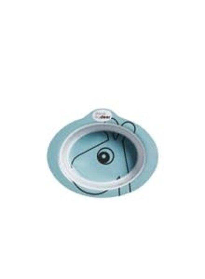 Anti-slip bowl, Contour, blue