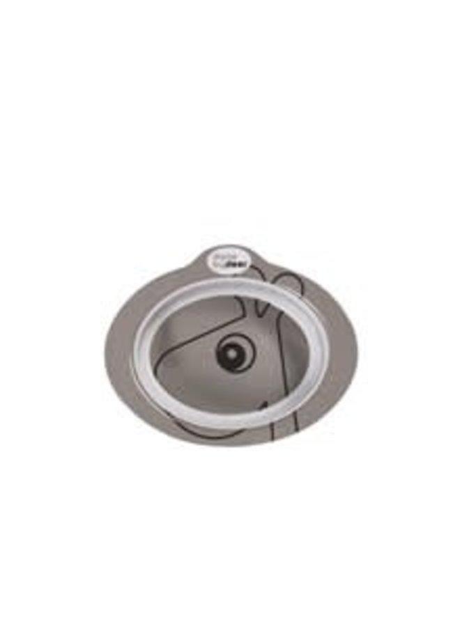 Anti-slip bowl, Contour, grey