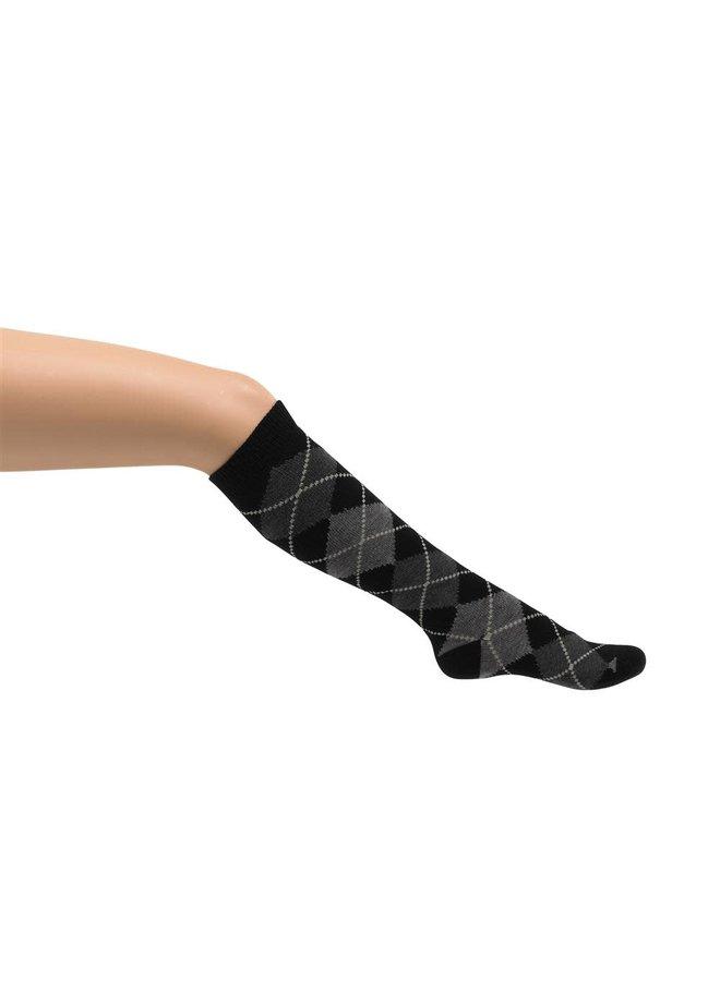 Argyle knee-high