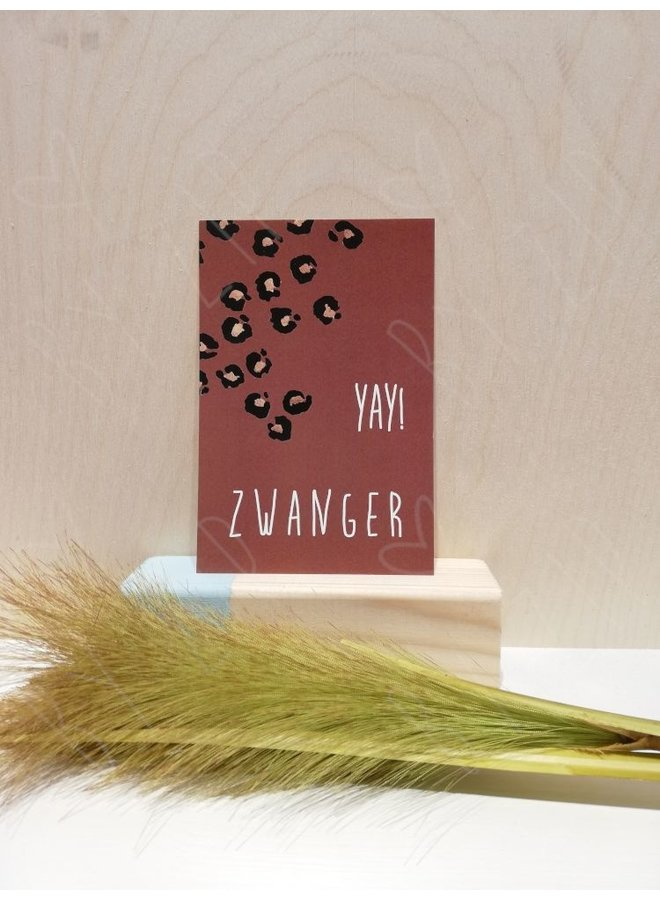 "Kaartje; ""Yay! Zwanger"""
