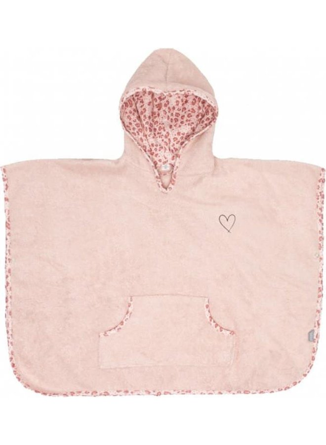 Badponcho / Leopard pink