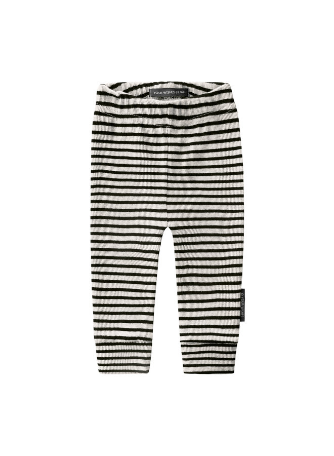 Beige - Stripes | Fitted Pants