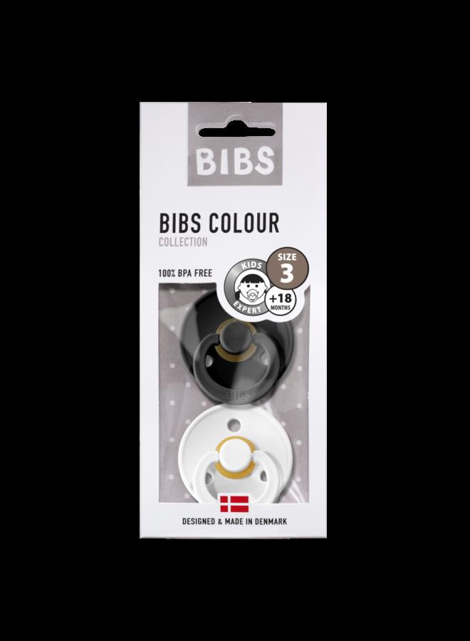 Bibs fopspeen T3 - Zwart / Wit