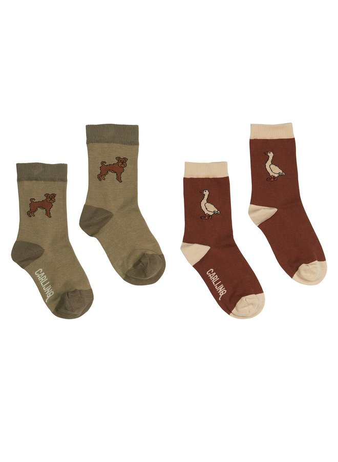 Socks - SET of 2: Boris + Goose