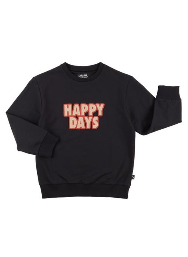 Happy days - sweater + embroidery patch