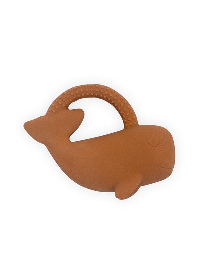 Bijtring rubber Walvis