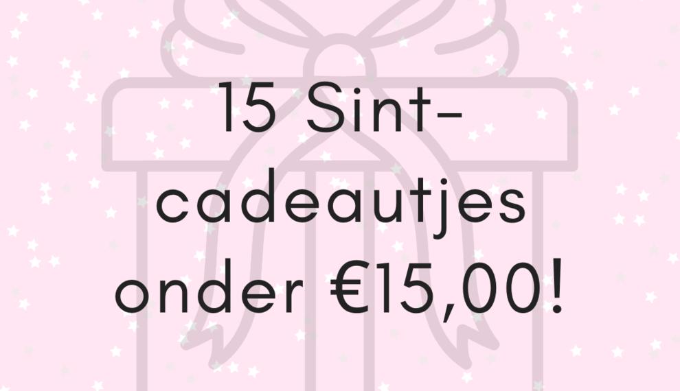 Sinterklaastip: 15 cadeautjes onder €15,00