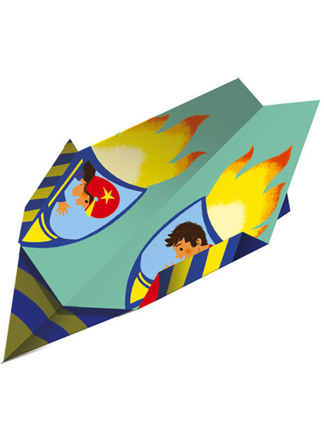 Atelier - Papieren vliegtuigjes