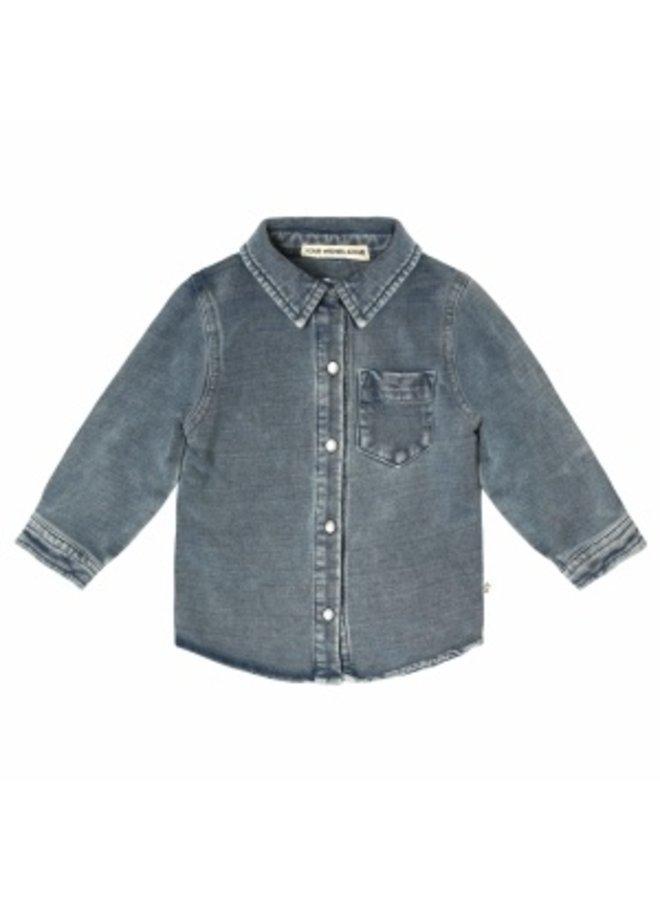 Knitted Denim   Shirt