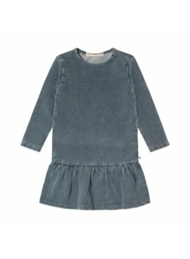 Knitted Denim   LS Shift Dress