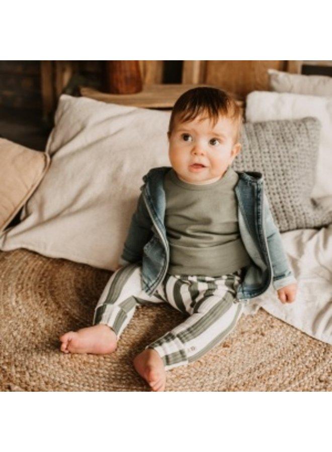 Knitted Denim | Zipper Pocket Cardigan