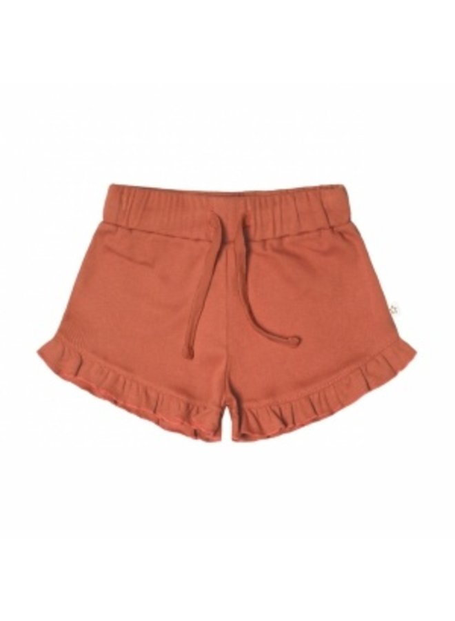 Rib Terra | Ruffle Shorts