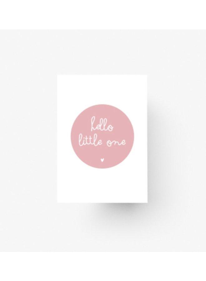 Hello little one - roze