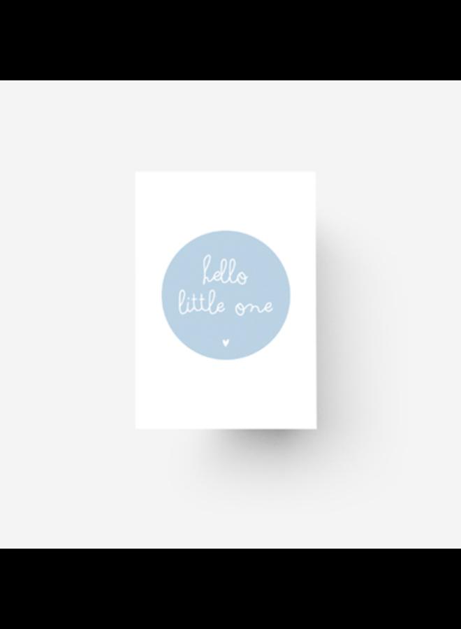 Hello little one - blauw