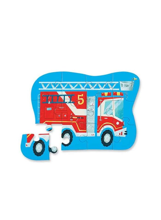 12 pc Mini Puzzle/Fire Truck