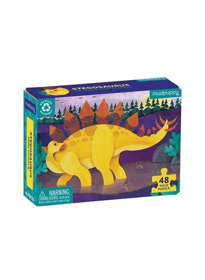 48 pc Mini Puzzle/Stegosaurus