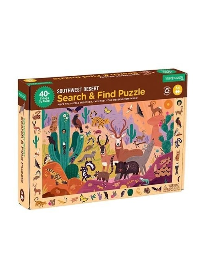 Search & Find Puzzle - Desert