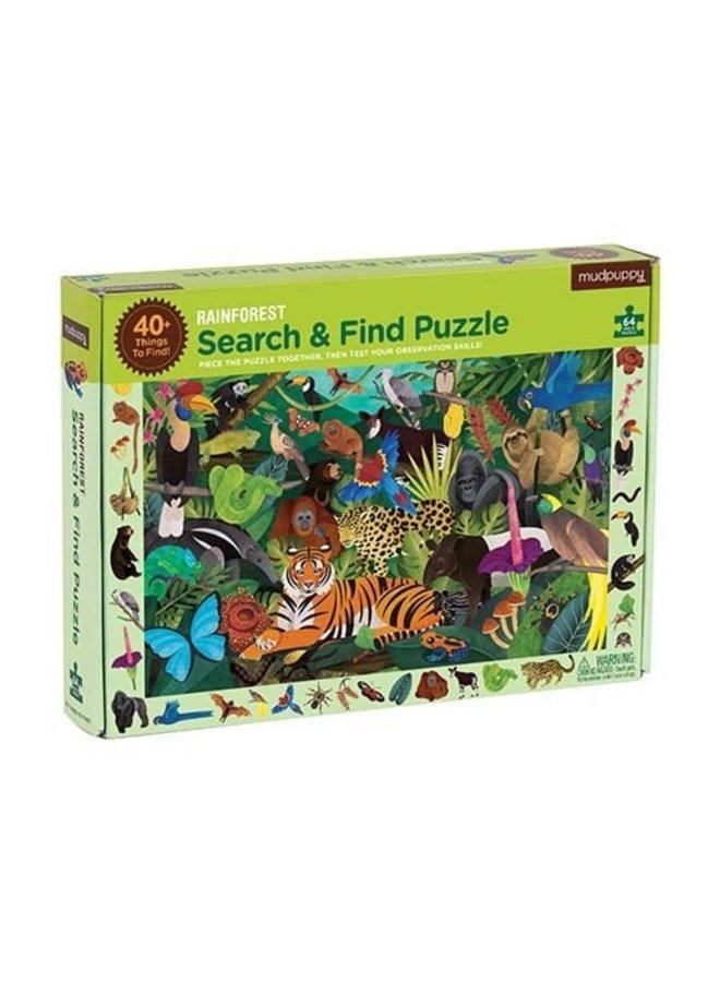 Search & Find Puzzle - Rainforest