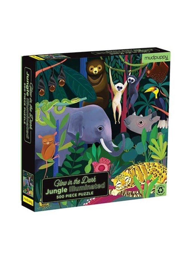 Glow in Dark Puzzle - Jungle Illuminated