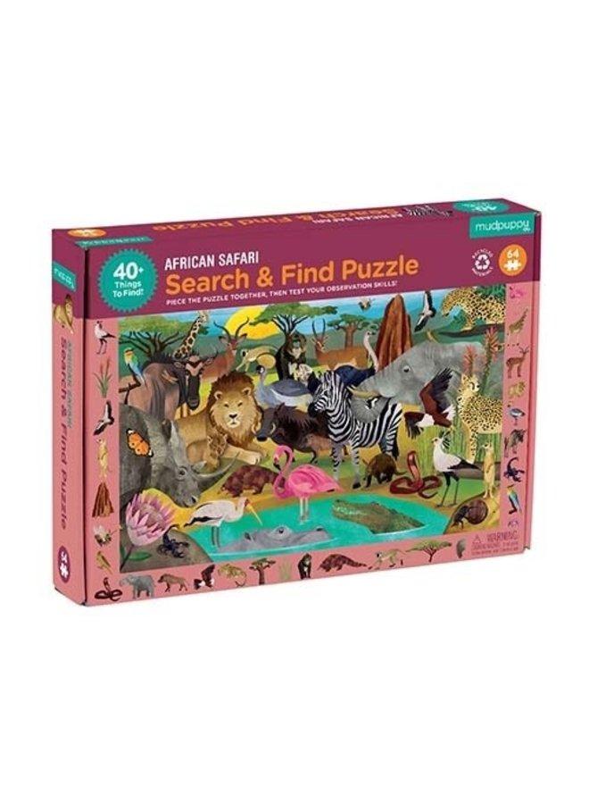Search & Find Puzzle - African Safari