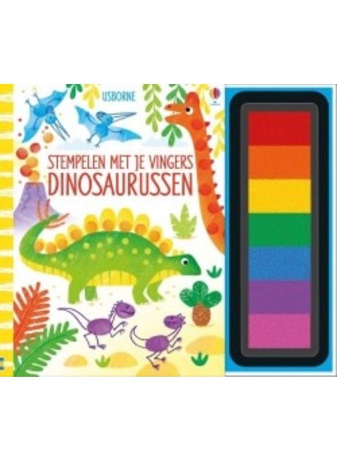 Stempelen met je vingers/Dinosaurussen