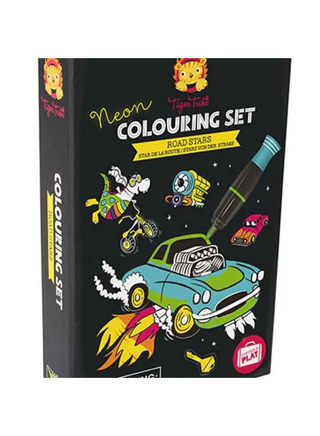 Neon Colouring Sets/Road Stars