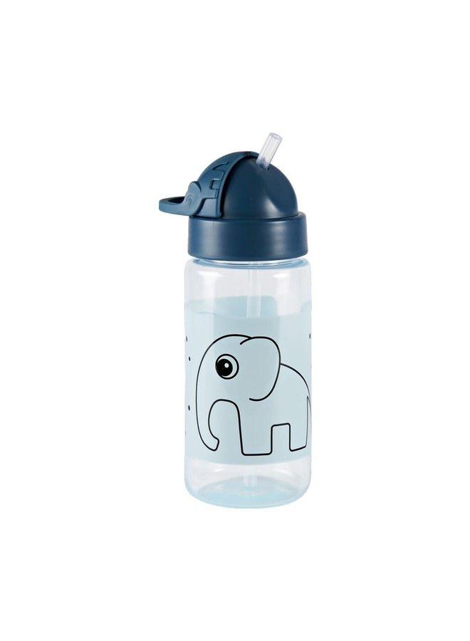 Straw bottle, Elphee, Blue
