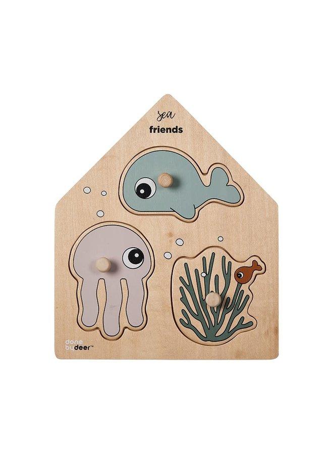 Peg puzzle, Sea friends