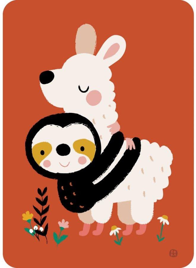 Kaartje 'Alpaca knuffel'