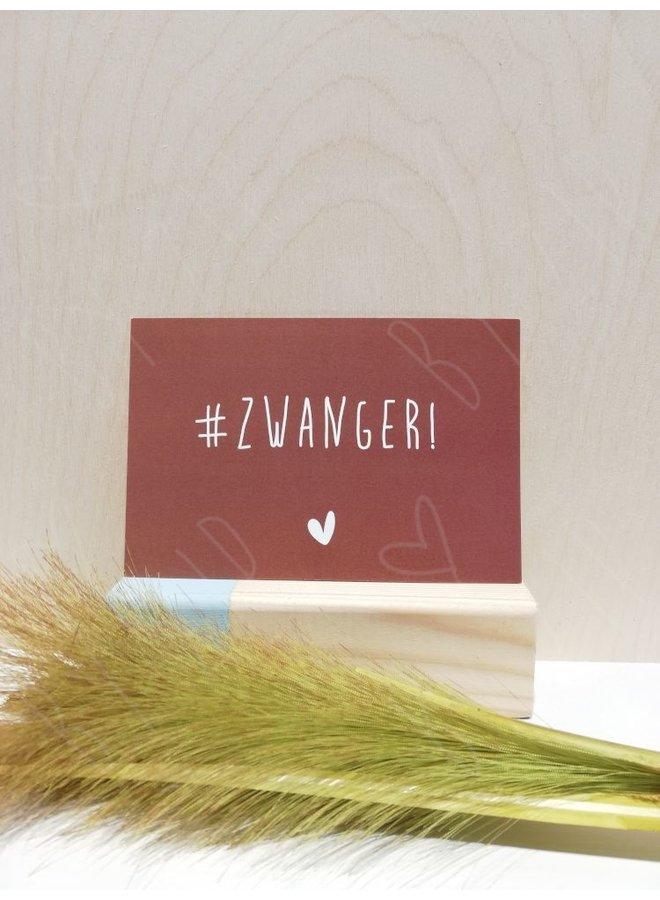 """Kaartje; """"#Zwanger"""""""