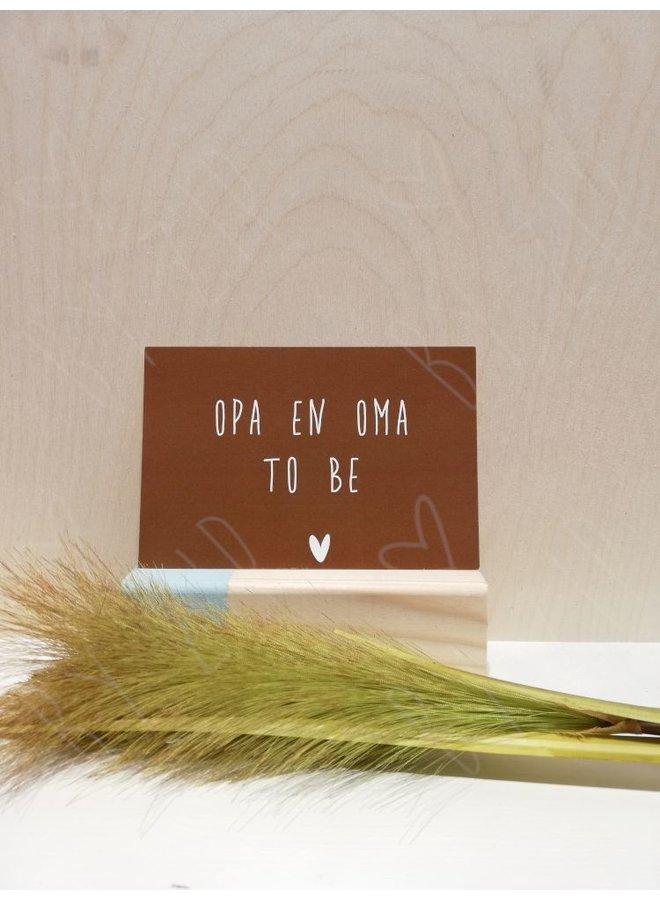 """Kaartje; """"Opa & Oma to be"""""""