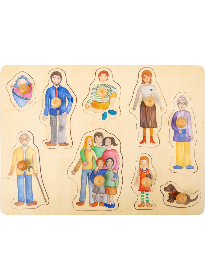 Houten Insteekpuzzel - Familie