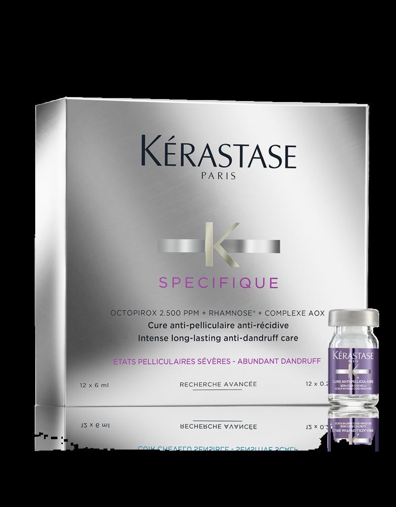 Kérastase Spécifique Cure Antipelliculaire à 12 - Haarkuur tegen roos, schilfers en jeuk - 12x6ml