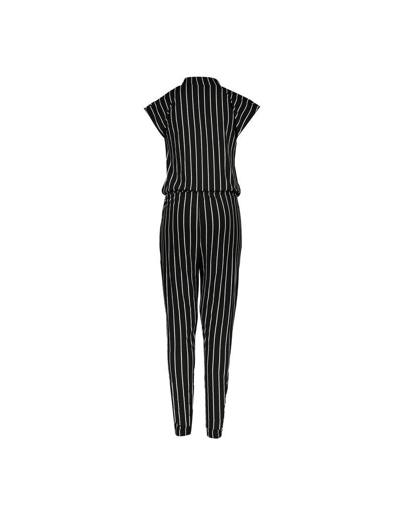 Geisha Geisha Jumpsuit - Black/White striped