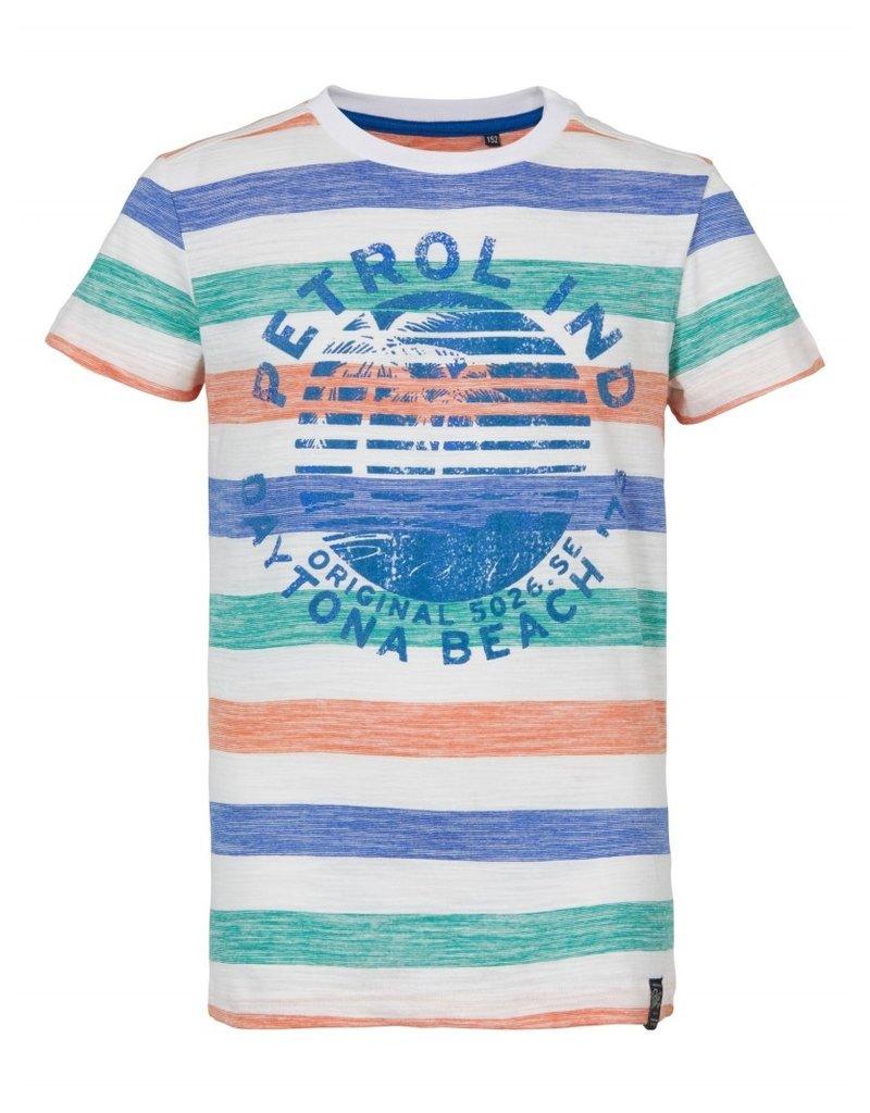Petrol Industries Petrol T-shirt jongen All-over stripe print - Zomer 2020