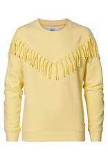 Petrol Industries Petrol Sweater girls met franjes - Pastel geel- Zomer 2020
