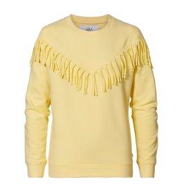 Petrol Industries Petrol Sweater girls met franjes - Pastel geel