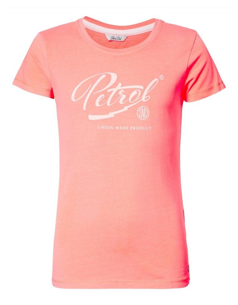 Petrol Industries Petrol T-shirt girls  korte mouw - koraal - Zomer 2020