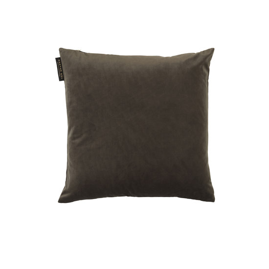 TED SPARKS - Cushion - Pure Velvet - Brown Grey - 45 x 45
