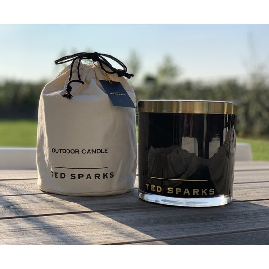 TED SPARKS - Outdoor Candle Black
